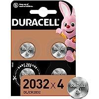 Duracell Pilas de botón de litio 2032 de 3 V, paquete de 4, con Tecnología Baby Secure, para uso en llaves con sensor…