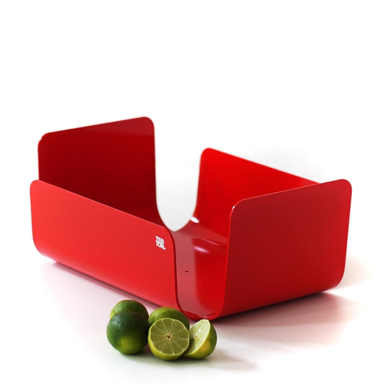 Rosso, Small Design Senza Tempo gi/à Un Classico TEBTON UNIBODY1 Ciotola dalla Forma Bellissima da Utilizzare Come Ciotola Decorativa o Ciotola per Frutta