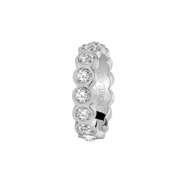 cristalli in acciaio Morellato Anello da donna Collezione Cerchi SAKM41018