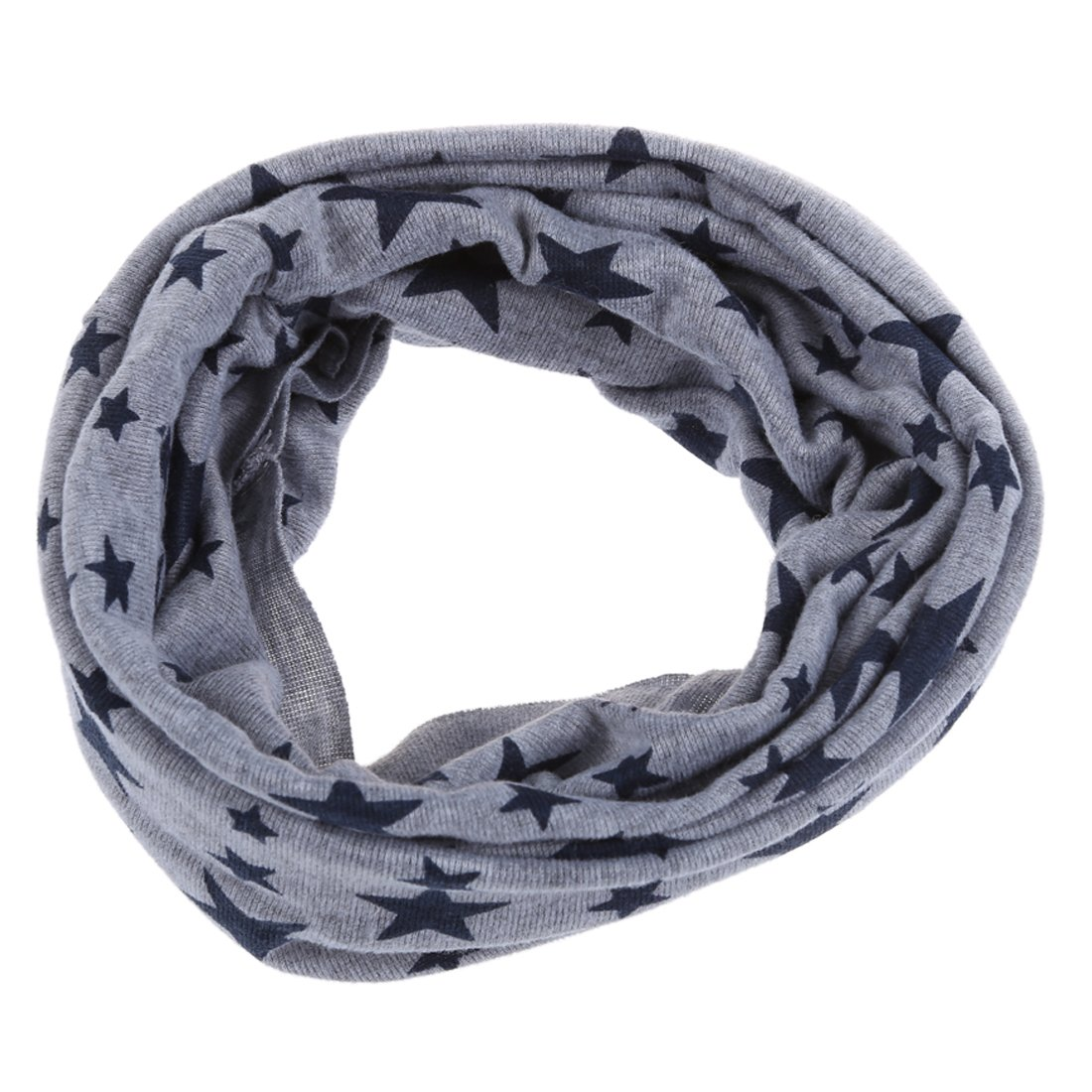 Echarpe bebe - SODIAL(R)Echarpe de bebe unisexe Exharpe tricote d¡¯etoile a cinq branches Echarpe tour de cou?d¡¯hiver plus chaude Gris 051994