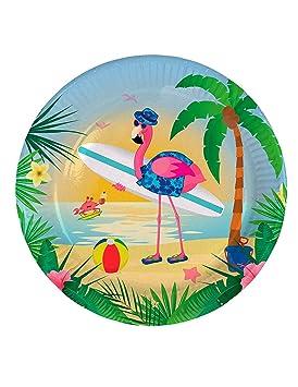 8 platos para fiestas * Flamingo * para Fiesta temática o ...