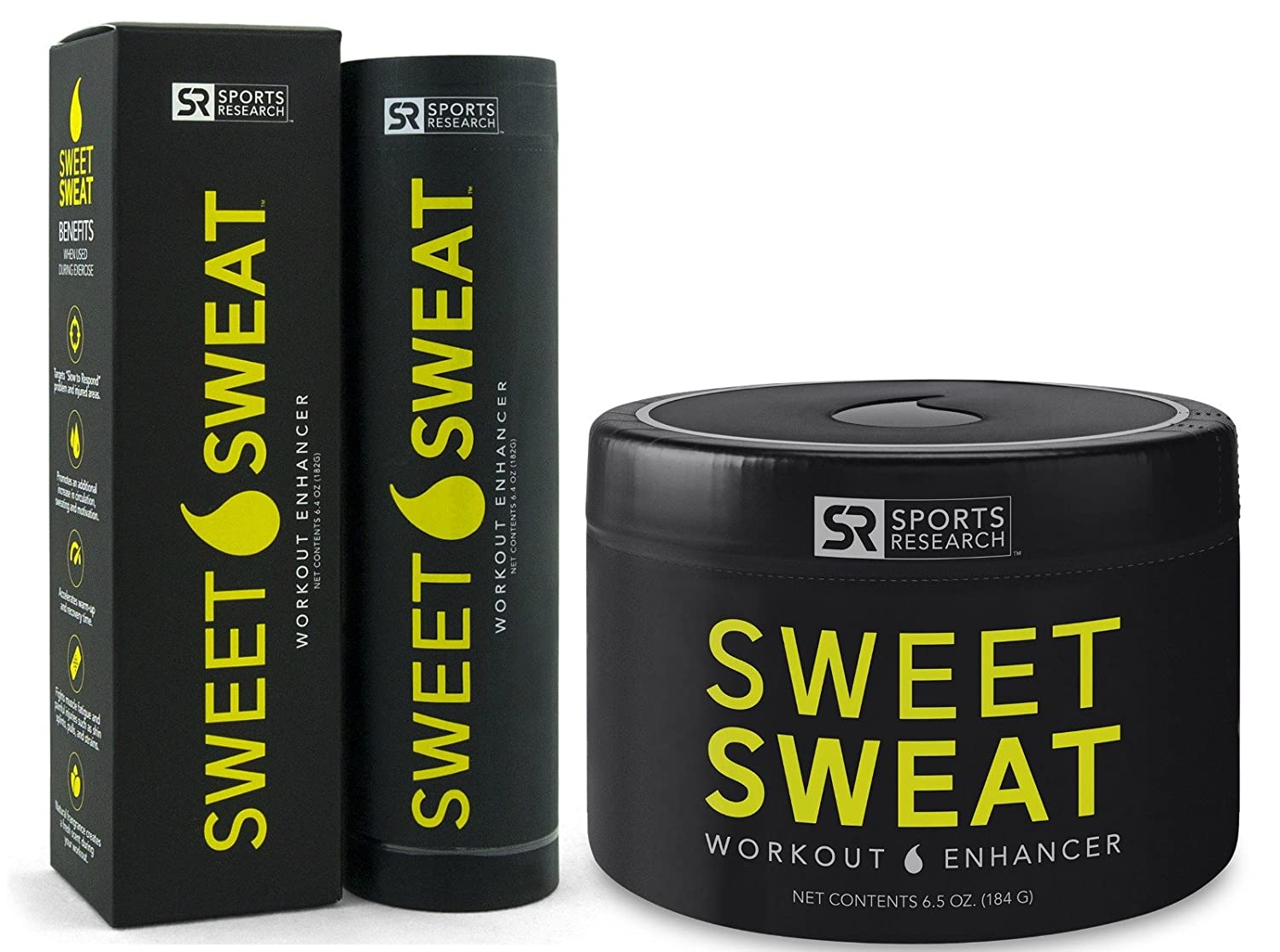 87744d4a3f Sweet sweat weight loss combo pack includes sweet sweat stick and sweet  sweat jar health personal