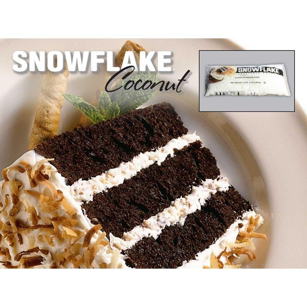 Snowflake Coconut Flake Medium Cut 10 Bag 1 Pound