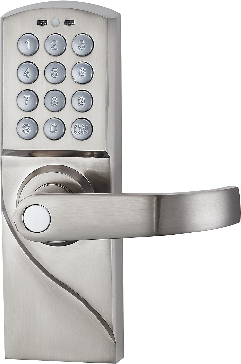 HAIFUAN Right Hand Digital Keypad Door Lock with Backup Keys, Electronic Keyless Entry by Password Code Combination(for Right Handed Doors Only)
