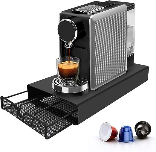 STARVAST Nespresso/Dolce Gusto/Caffitaly - Cajón de almacenamiento para cápsulas de café, soporte para máquina de café (almacenamiento para 27 cápsulas Nespresso o 18 cápsulas Dolce Gusto o 30 cápsulas Caffitaly): Amazon.es: Hogar