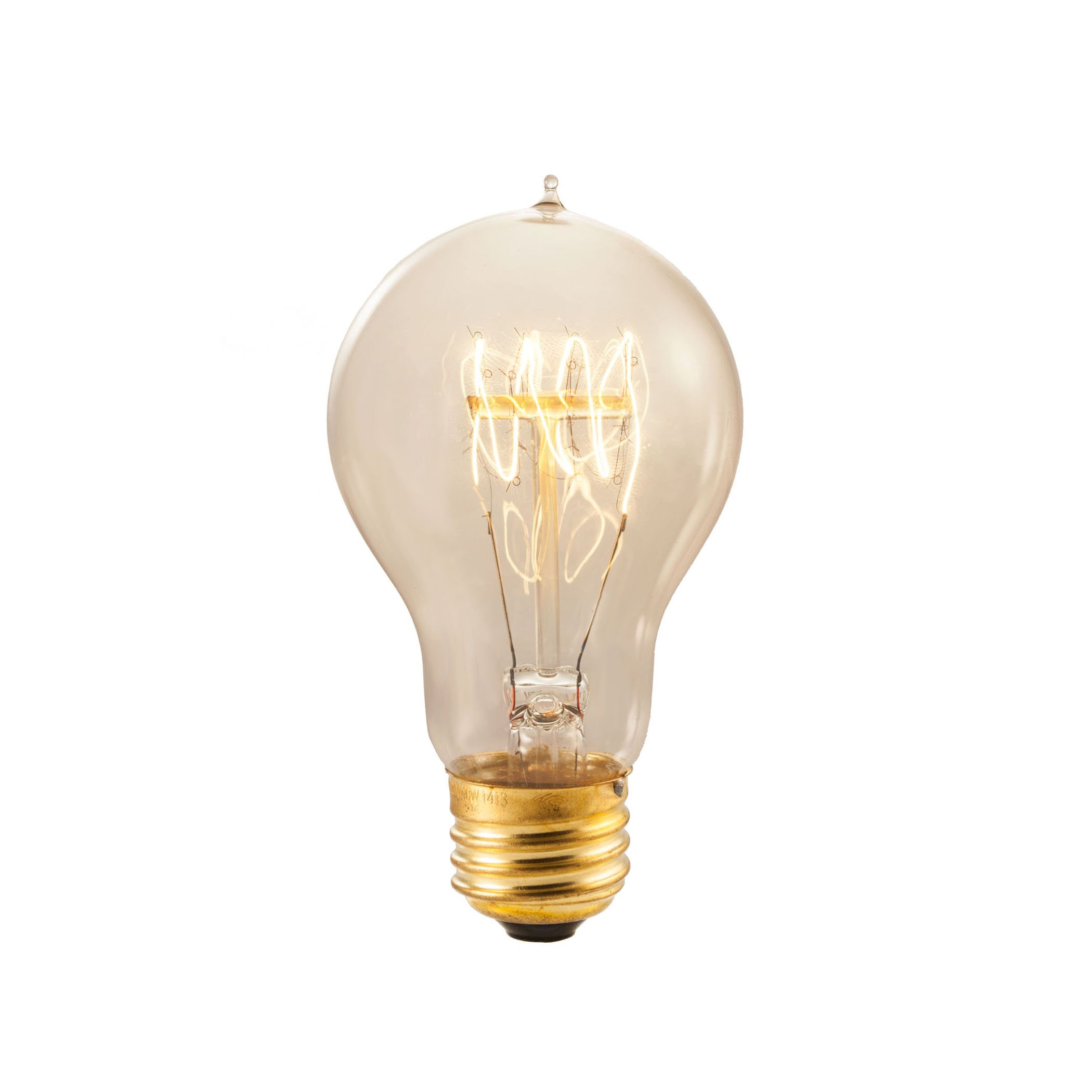Bulbrite NOS25-VICTOR 25-Watt Nostalgic Incandescent Edison Quad Loop A19, Medium Base, Antique [12 Pack]