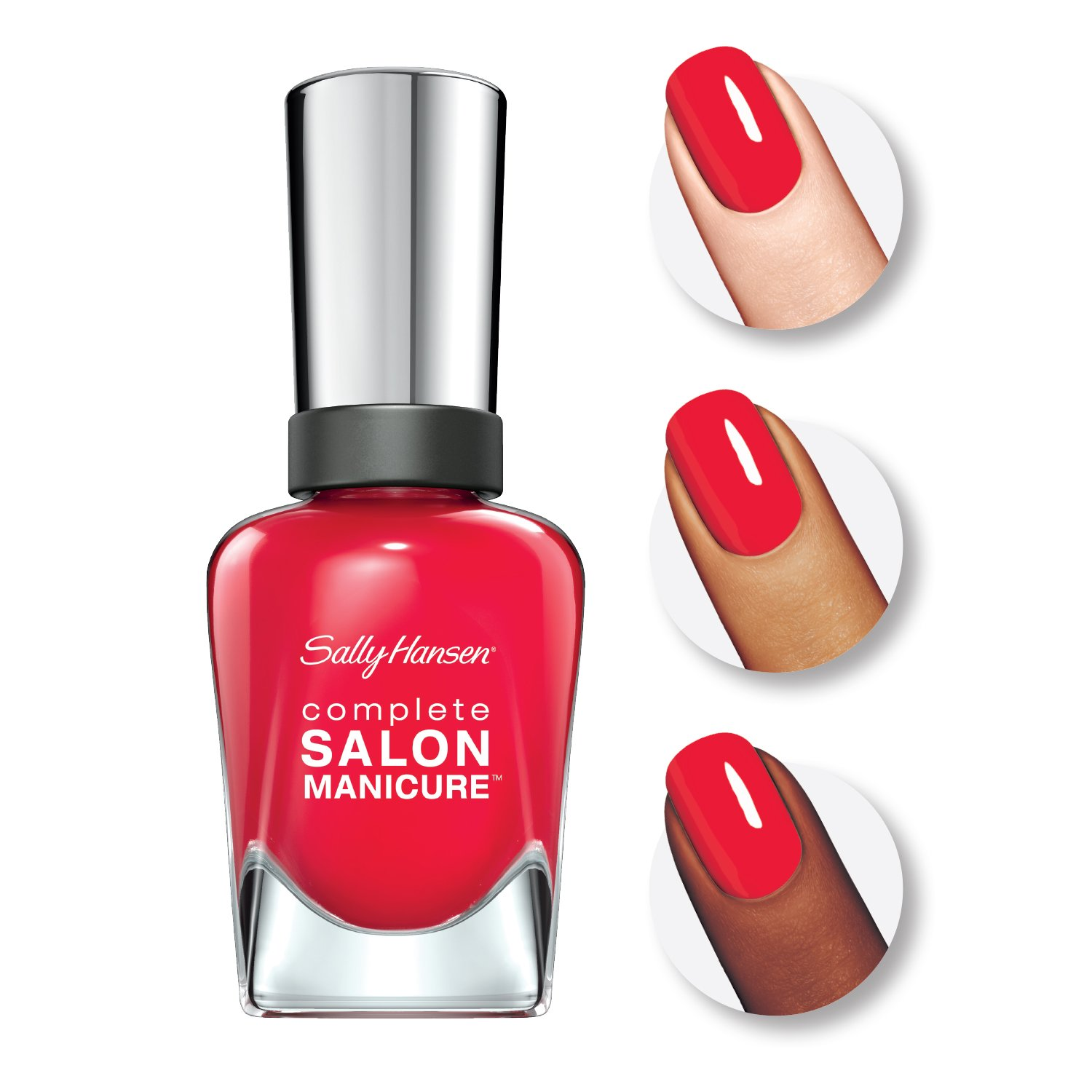 94dba78f55a Amazon.com : Sally Hansen Complete Salon Manicure Nail Color, All Fired Up,  0.5 Ounce : Beauty