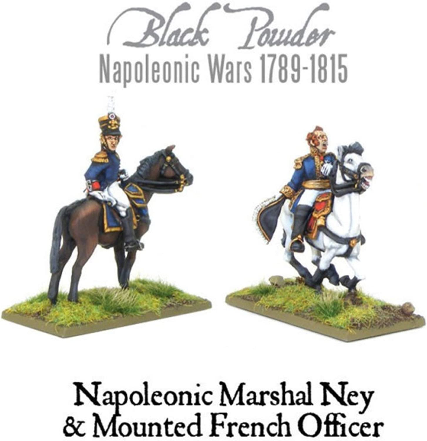 Black Powder, Napoleonic Wars, Marshal Ney & Mounted French Officer, 28mm