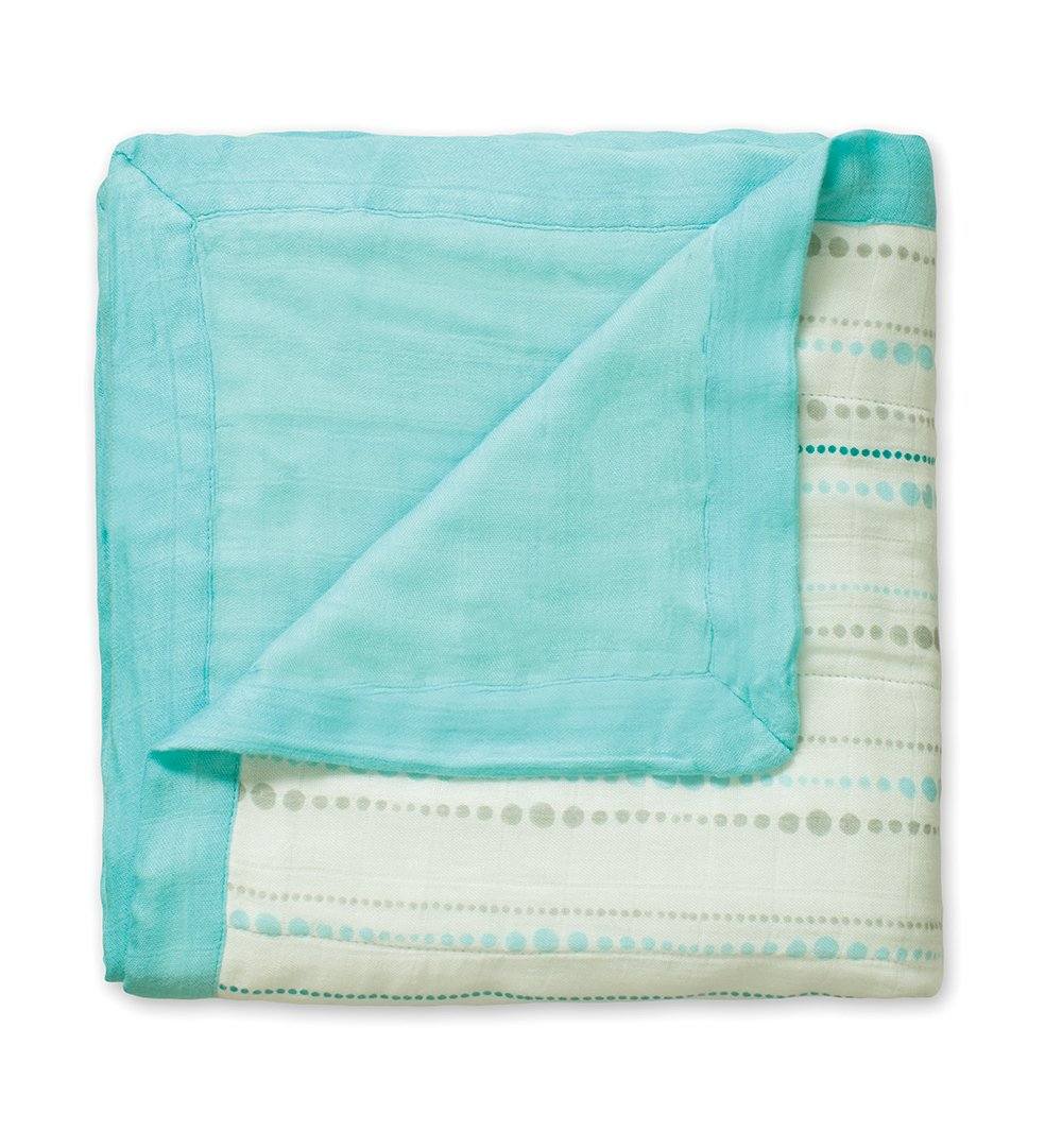 aden + anais silky soft dream blanket, azure beads