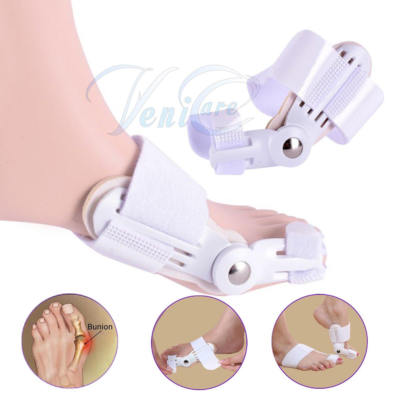 1 Pair/ 2PCS VeniCare Bunion Corrector, Adjustable Bunion Protector Pain Relief Kit, Toe Spacers Alignment Straightener Splint Treat Pain in Hallux Valgus, Tailors Bunion, Big Toe Joint, Hammer Toe