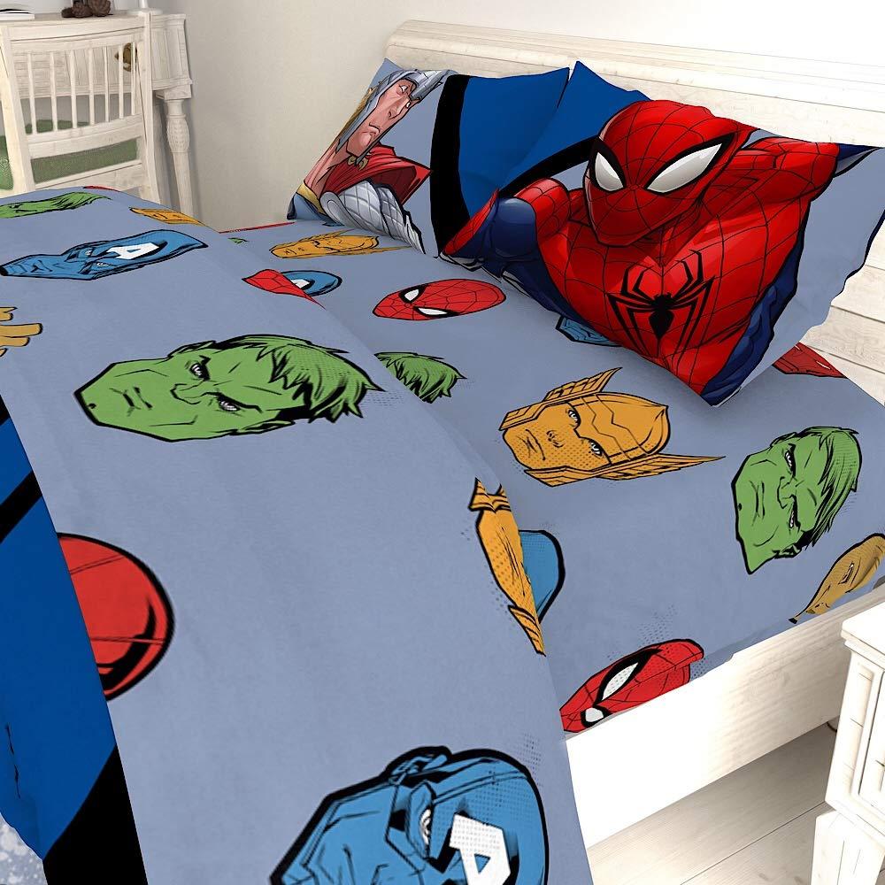 Marvel Avengers Movie Kids Twin Bedding Sheet Set