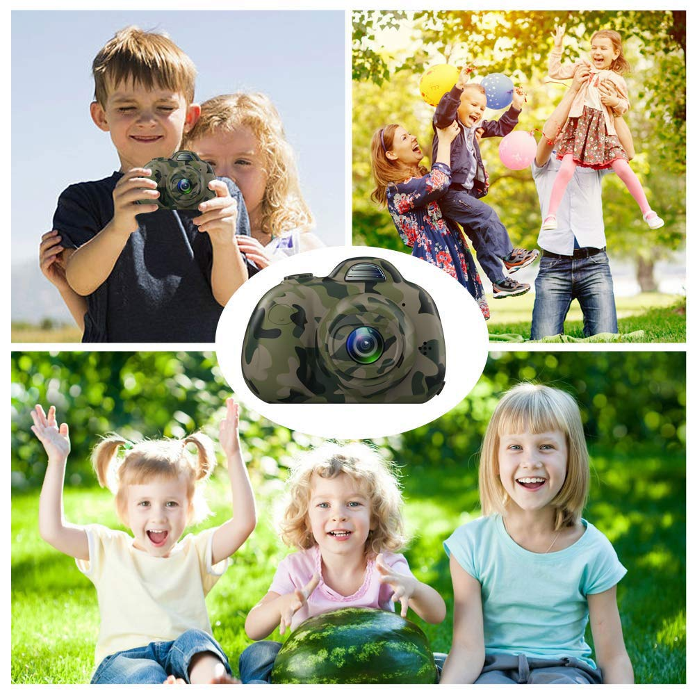 8MP Camuffamento Balee Macchina Fotografica per Bambini Fotocamera Digitale Portatile Selfie Videocamera per Bambine 2 Pollici LCD 1080P HD
