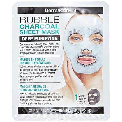 Dermactin-TS burbuja carbón vegetal hoja máscara – purificación de profundidad