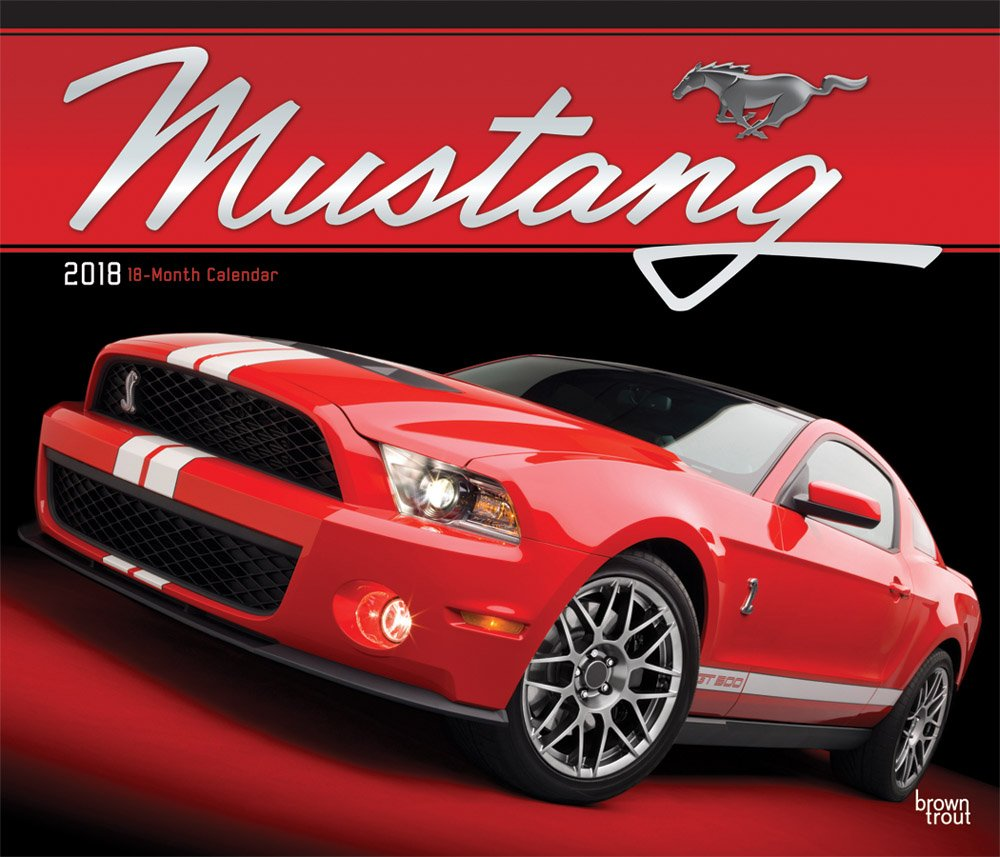 Mustang 2018 14 x 12 Inch Monthly Deluxe Wall Calendar with Foil Stamped Cover, Ford Motor Muscle Car by BrownTrout Publishers