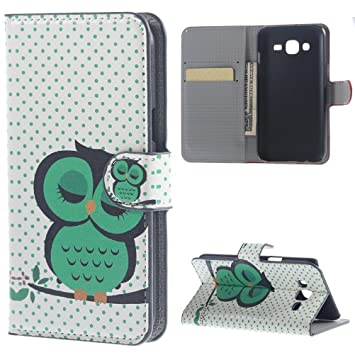 Galaxy J1 Folio Cover,Premium PU Leather Case [Flip Wallet Case] Protector  Cover for Samsung Galaxy J1 (SM-J100F / J1 4G) Folio Case Protective