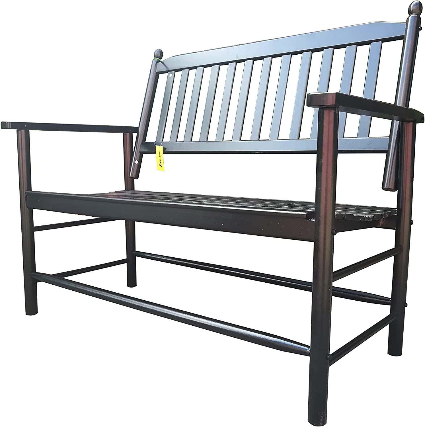 Rockingrocker - A059BK Black Outdoor Wood Garden Bench - Suitable for Indoor or Outdoor - Assembled Dimensions:W49.21 x H40.16 x D26.97 inches