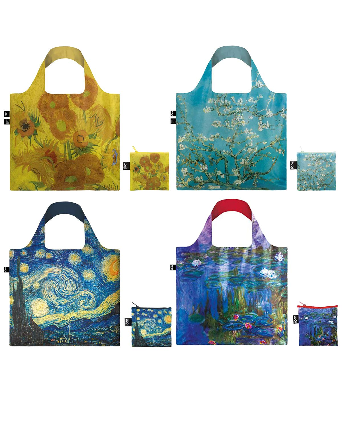 LOQI CU.CO.12 Museum12 Collection Pouch Reusable Bags, Set of 4, by LOQI