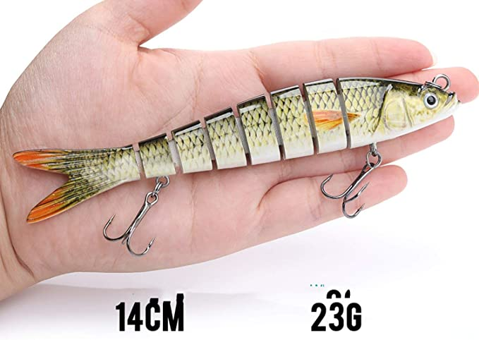 "4/"" Angelköder Sinking Wobblers Multi Jointed Swimbait Köder Harter Lure 30g"