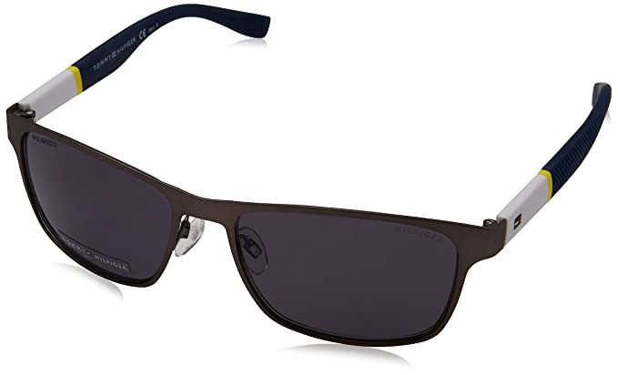 3523c60a49 Image Unavailable. Image not available for. Color  Tommy Hilfiger Men s  Th1283s Polarized Rectangular Sunglasses ...
