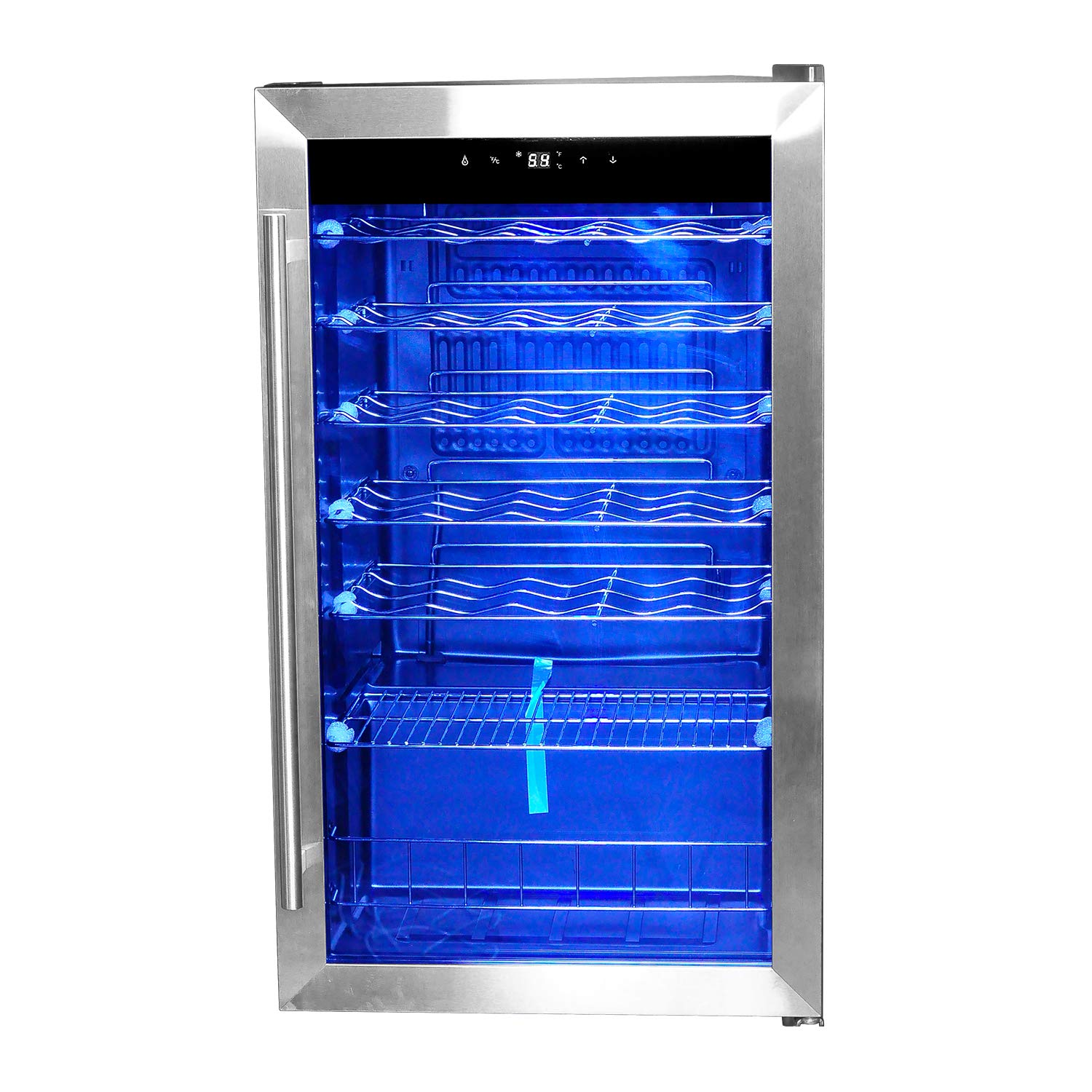 Smad 35 Bottles Compressor Wine Cooler with Handle, Stainless Steel
