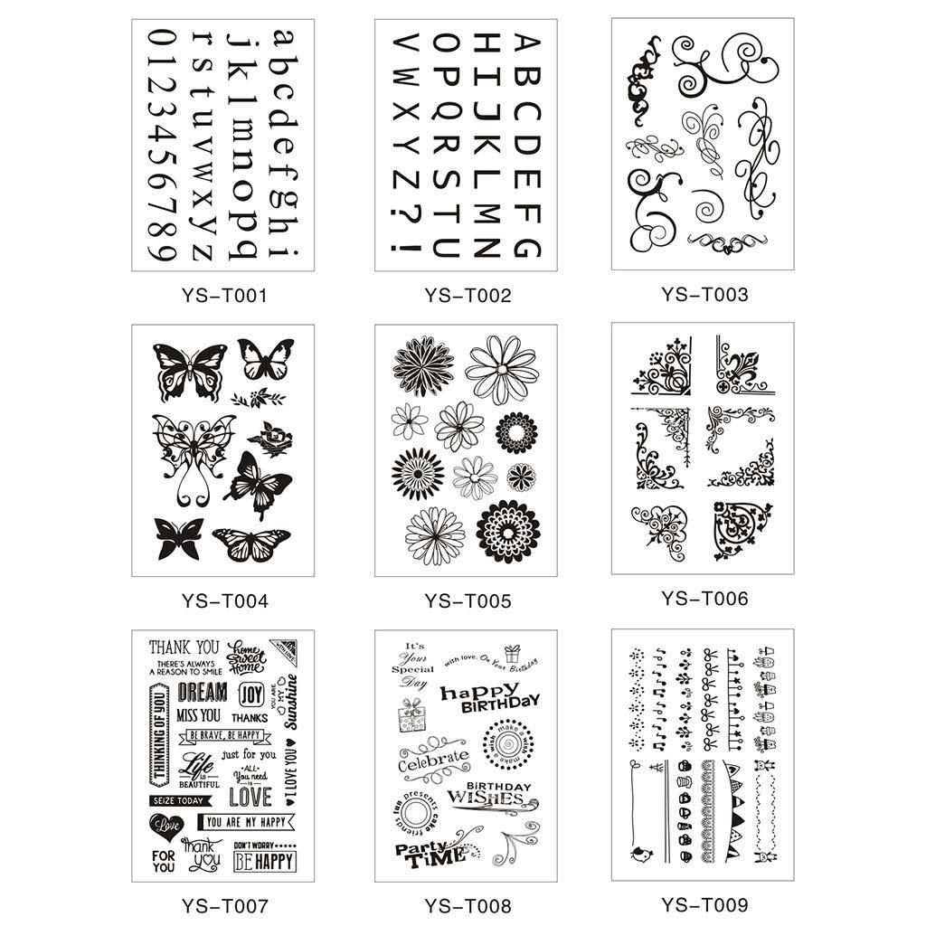MOreLJ Angolo Silicone Timbro Sigillo Fai da Te Scrapbooking Goffratura Album Fotografico Carta Decorativa Carta Artigianale Artigianato Regalo Fatto a Mano