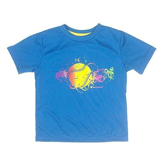 307ecc4b Amazon.com: Champion Boys Athletic Graphic Tee Shirt 3 Toddler Turq Blue:  Clothing
