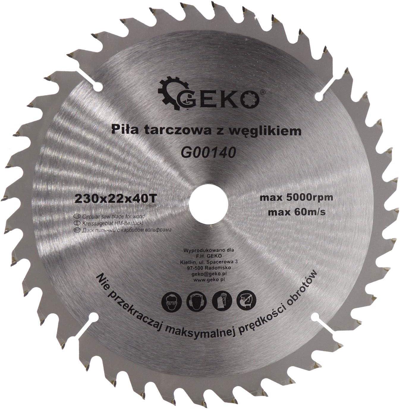 holz-metall 230 x 22,2 x 40 dientes Hoja de sierra circular para madera