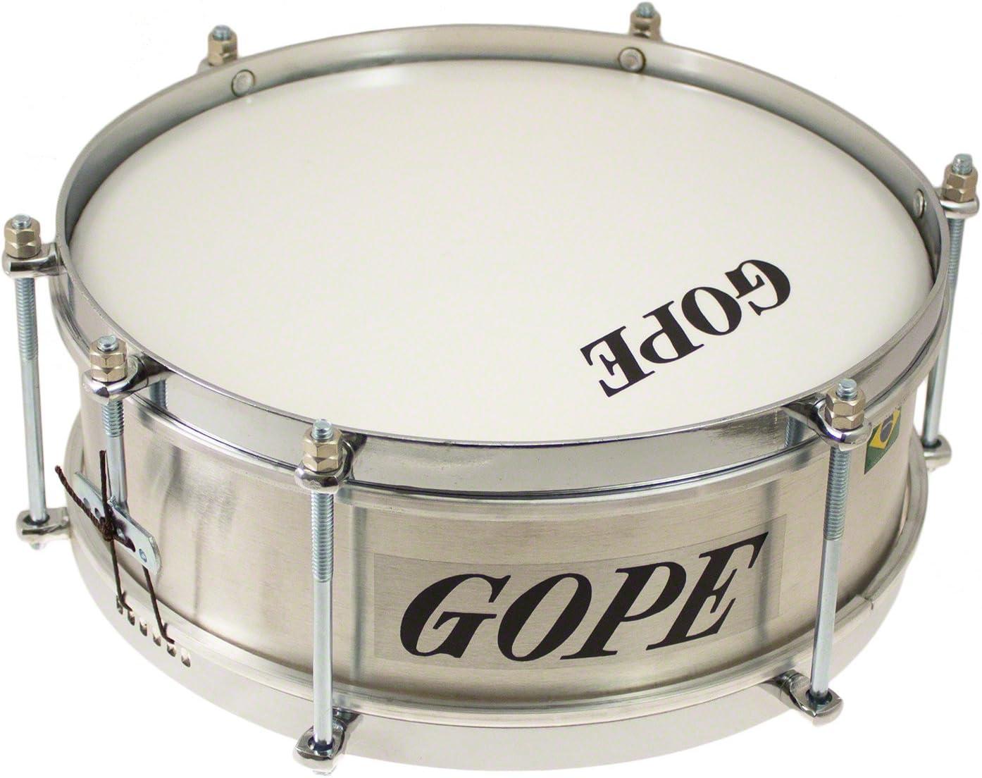 Gope CA1010AL-CR - Instrumento de percusión brasileño, caja mini de aluminio, circular, 10 cm de profundidad, cromado: Amazon.es: Instrumentos musicales