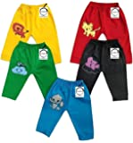 Chirsh® Baby Kid's Cotton Pajama Pant with Ribs Pack of-5