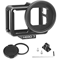 SHOOT Metal Case Receive GPS Signal,WiFi for GoPro HERO7 Black/ HERO6/HERO5/HERO(2018) Video and Vlogging Frame Housing Cage Shell Must Have Accessories,Side Open,with 52mm UV Filter