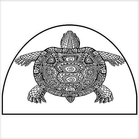 Alfombra de área de impresión maorí estilo tatuaje figura de ...
