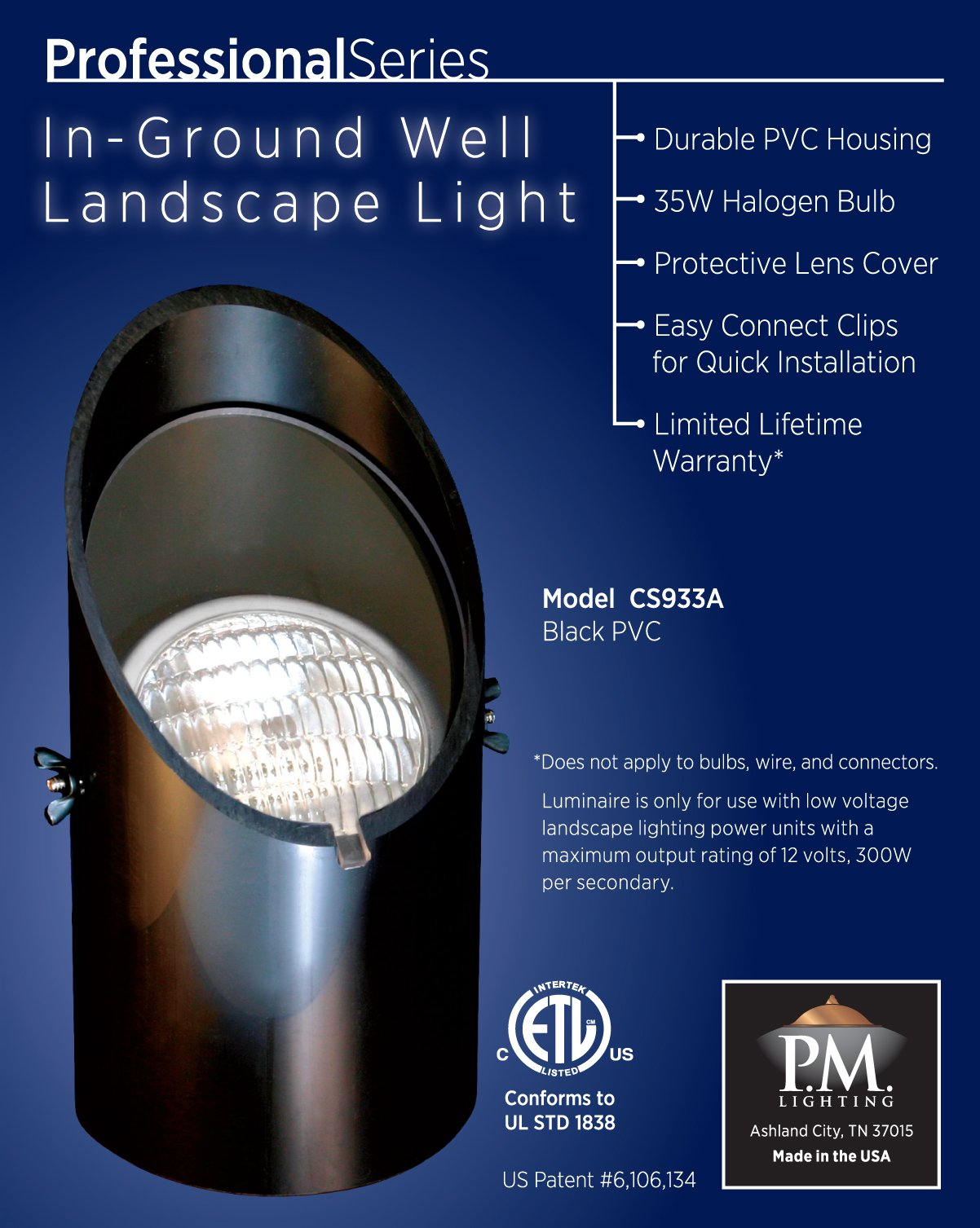 CS933A Professional Series Well Light Replacement Lamp Kit