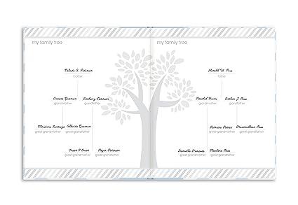 blau Pearhead P62201 Chevron Babybuch mit Clean Touch Stempelkissen Texte auf Englisch