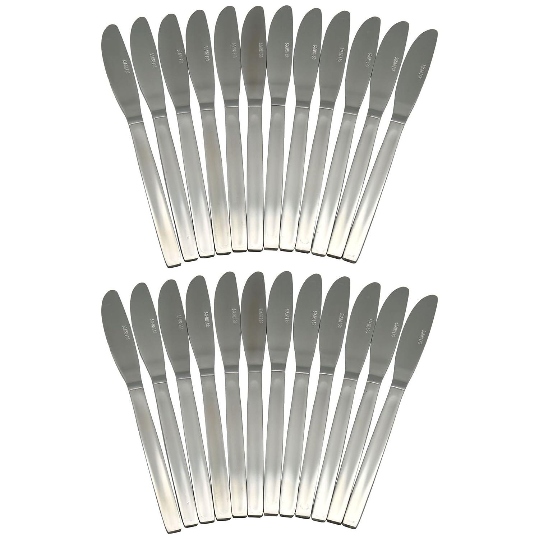 Argon Tableware Set Of 24 Stainless Steel Dinner Knives