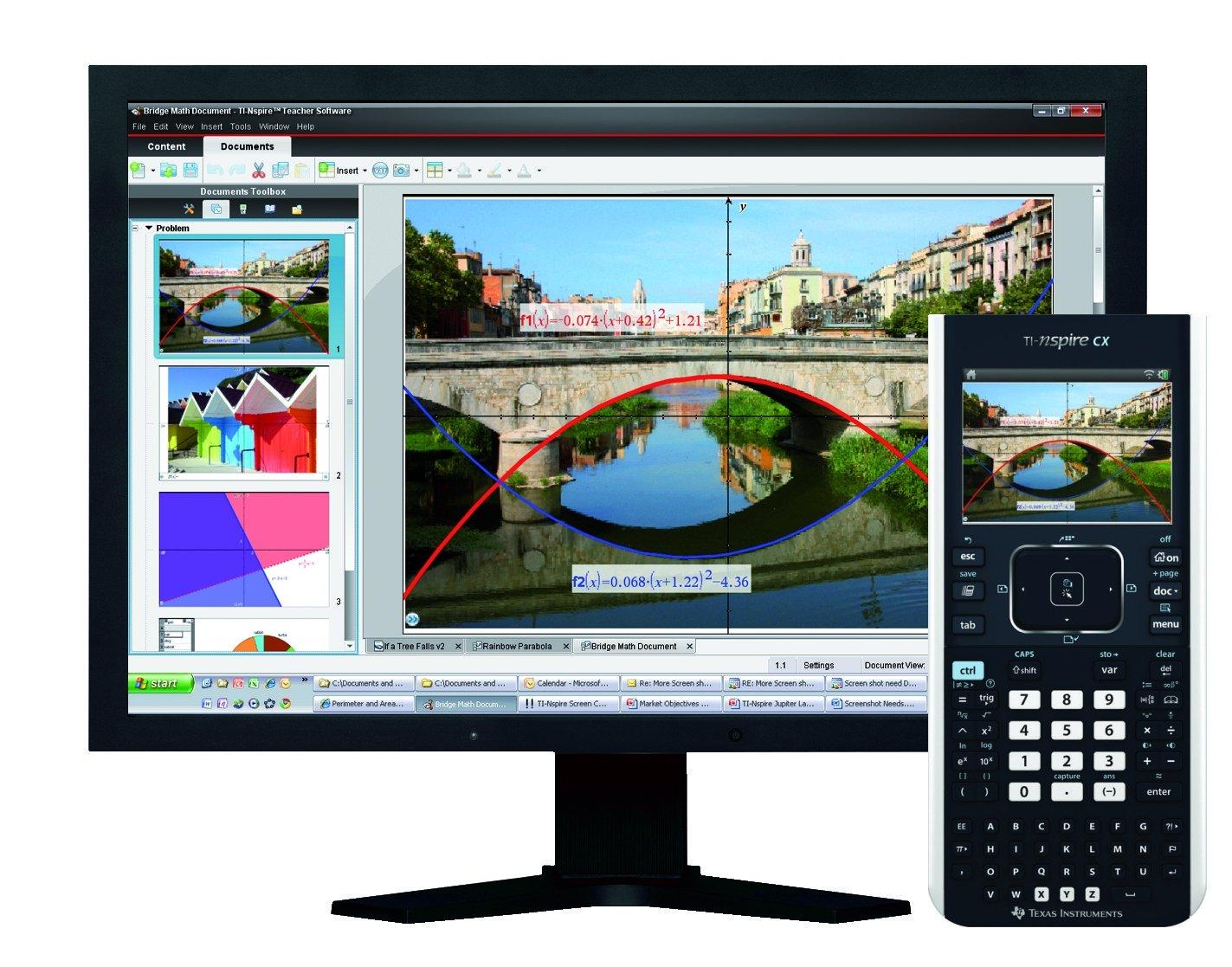 Texas Instruments TI-Nspire CX ohne CAS und Schüler Software TI-NSPIRECX