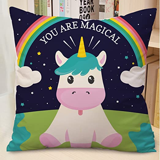 Amazon.com: Feidiao - Fundas de cojín de unicornio para ...