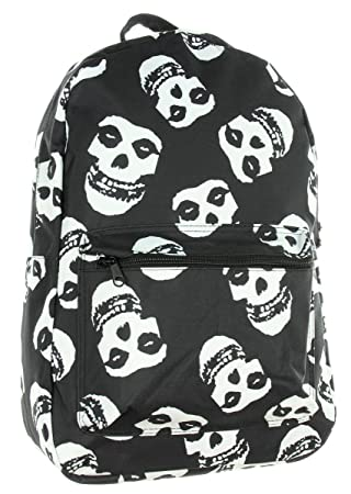 Misfits Allover Sublimation Fiend Skull Logo Punk Rock Band Backpack