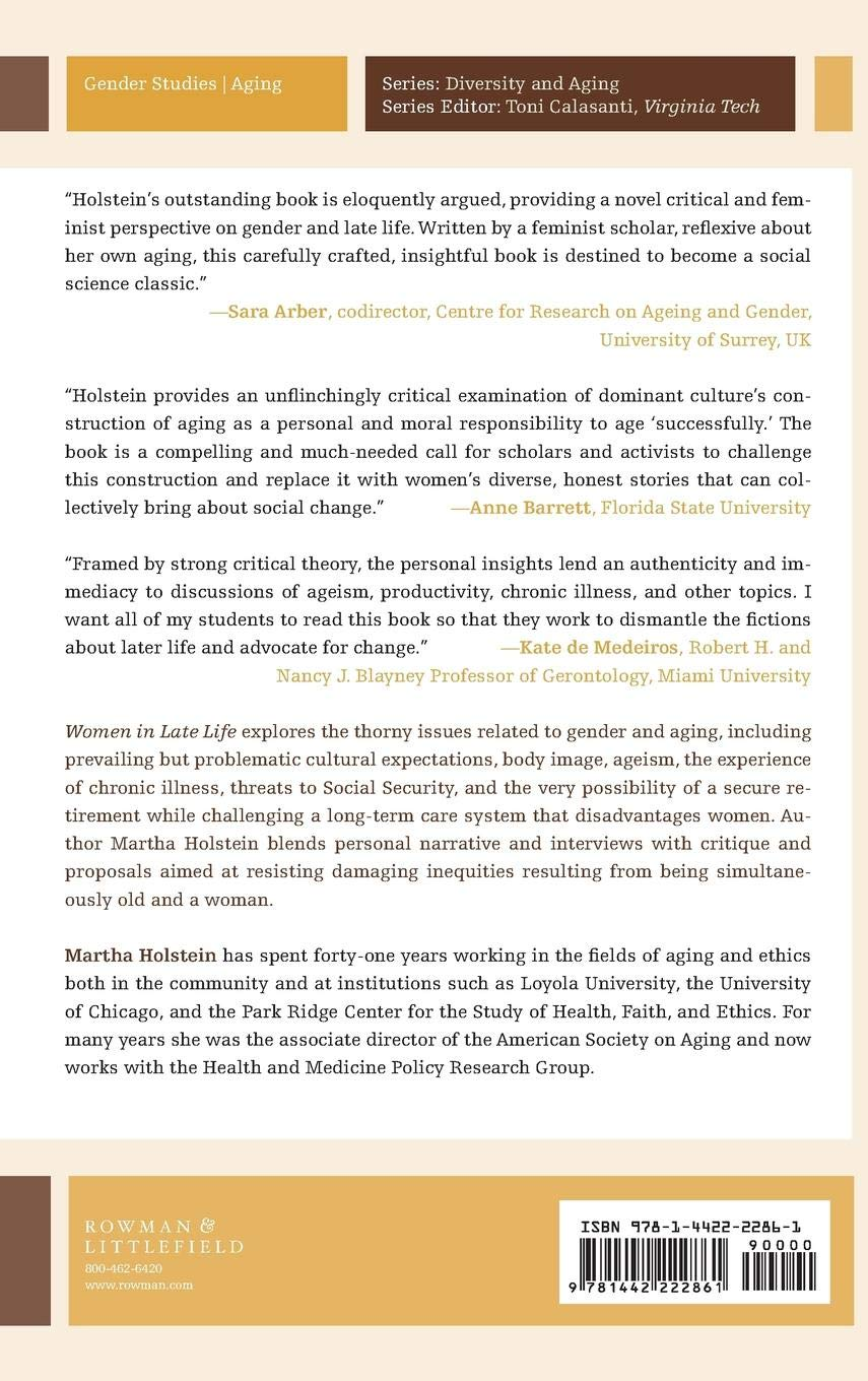 Women in Late Life: Critical Perspectives on Gender and Age ...