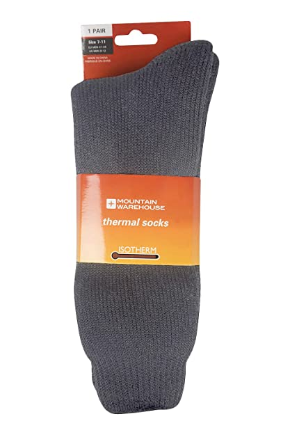 Mountain Warehouse Calcetines térmicos para Hombre Gris 41-45: Amazon.es: Zapatos y complementos