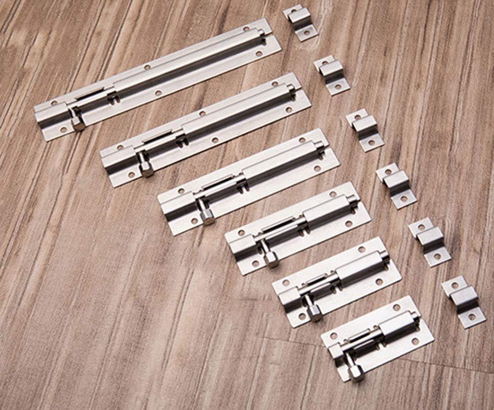 1 unidad//paquete Pestillo de seguridad para puertas de cajones de madera y ventanas de acero inoxidable grueso con clavos