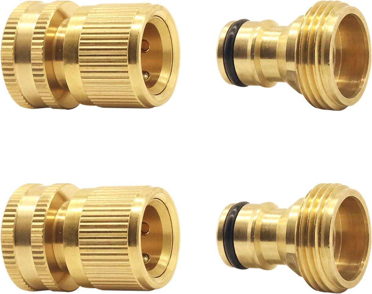 3//4/' Garden Hose Quick Connect Water Hose Fit Brass Connector Garden Hose Set