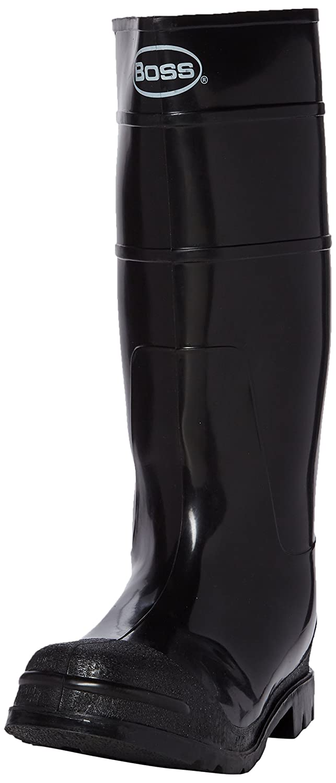 9babfed8183cd Boss Gloves Size 10 Black Mens PVC Knee Boot 2KP200110: Amazon.co.uk ...