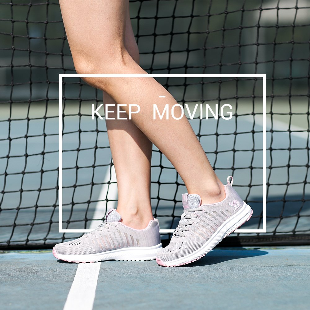 Camel Women Running Shoes Lightweight Breathable Sneakers Mesh Tennis Shoes for Sport B07B9XG2YL 6.5 M US Gray