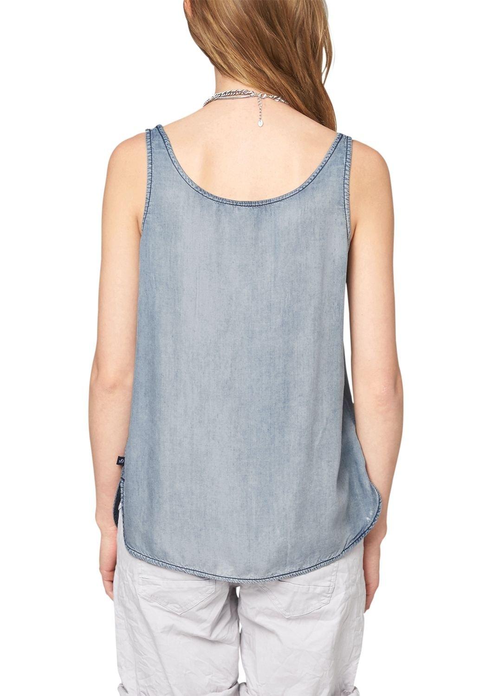 Oliver s.Oliver Denim Damen Slim Fit Bluse mit Spitze 41.505.13.2918, Gr.  34 (Herstellergröße: XS), Blau (Blue 53Y3): Amazon.de: Bekleidung