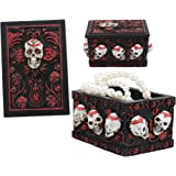 Multicolor Celebrating Day of The Dead Celebrating Day of The Dead/' 210332 NOVICA Day of The Dead Decoupage Jewelry Box