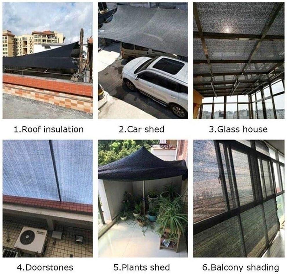RZEMIN Toldo Protector Solar Multifuncional, Patio/Techo/Suculento/Balcón/Aislamiento Y Sombra del Automóvil, Negro (Color : Black, Size : 4×4m): Amazon.es: Hogar