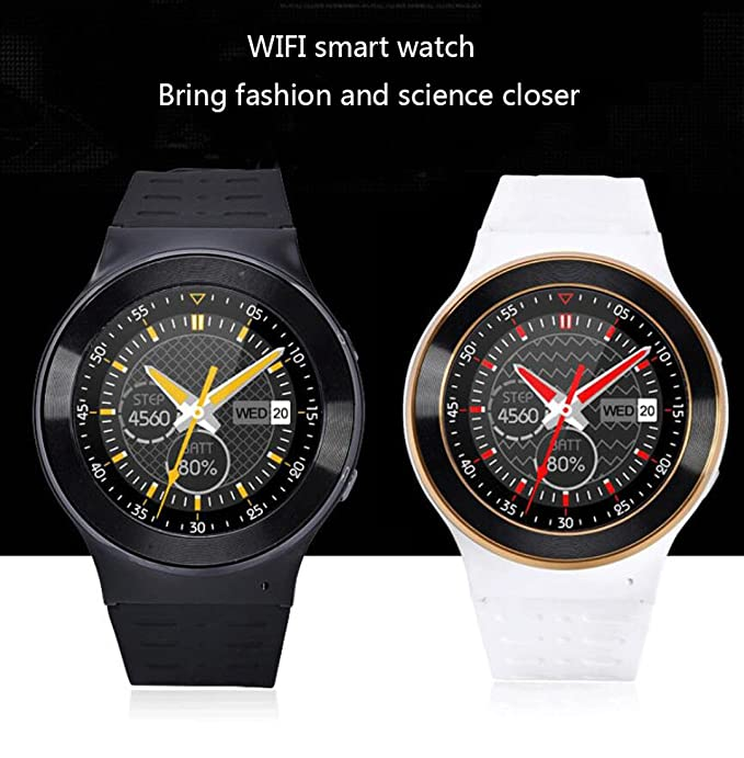 Amazon.com : Smart Watch Full Circle 3G Android 5.1WIFI ...