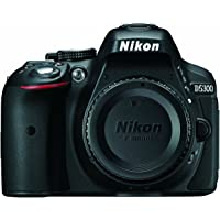 Nikon D5300 24.2 MP CMOS Digital SLR Camera with Built-in Wi-Fi and GPS Body Only, Black (Certified Refurbished)