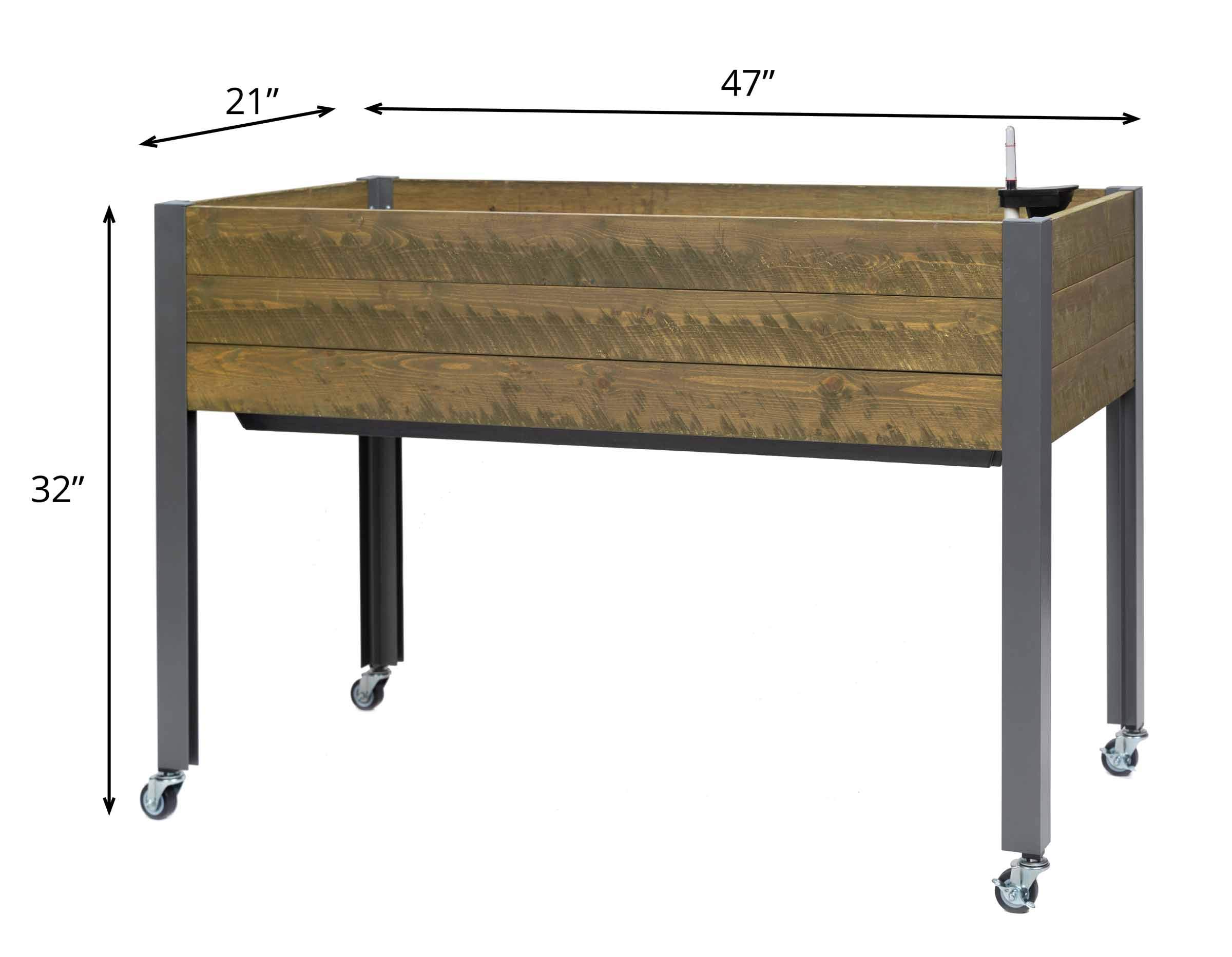 CedarCraft Self-Watering Elevated Spruce Planter (21'' x 47'' x 32''H) - The Flexibility of Container Gardening + The Convenience of a self-Watering System. Grow Healthier, More Productive Plants. by CedarCraft (Image #3)