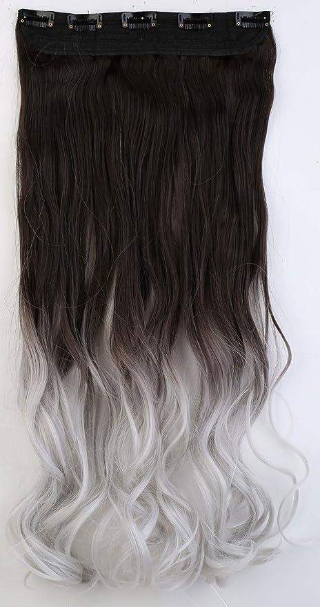 S Clips de pelo noilite Extensions Ondulado DIP Dye Ombre Extensiones 5 piezas de cabello (